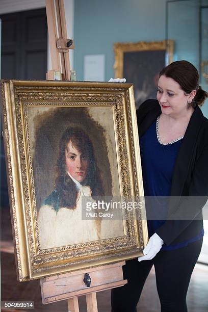 Director Jennifer Scott hold up the Holburne Museum's latest acquisition a portrait of Arthur Atherley by Thomas Lawrence at the Holburne Museum on...