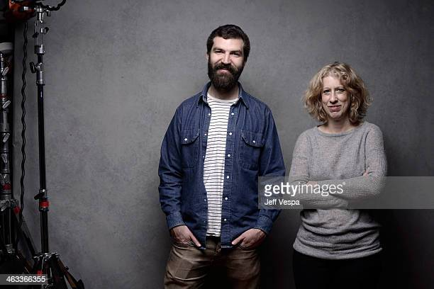 Director Jeremiah Zagar and producer Lori Cheatle pose for a portrait during the 2014 Sundance Film Festival at the WireImage Portrait Studio at the...