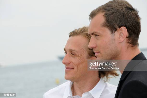 Director Jeremy Gilley and actor Jude Law attend the The Day After Peace photocall at Majestic Beach during the 61st Cannes International Film...
