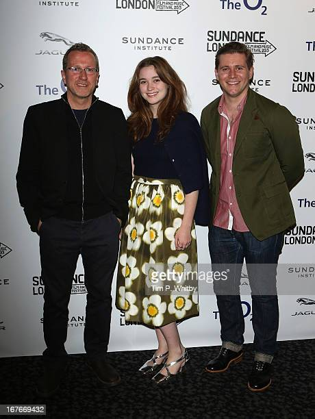 Director Jeremy Lovering and actors Alice Englert and Allen Leech attend the 'In Fear' screening during the Sundance London Film And Music Festival...