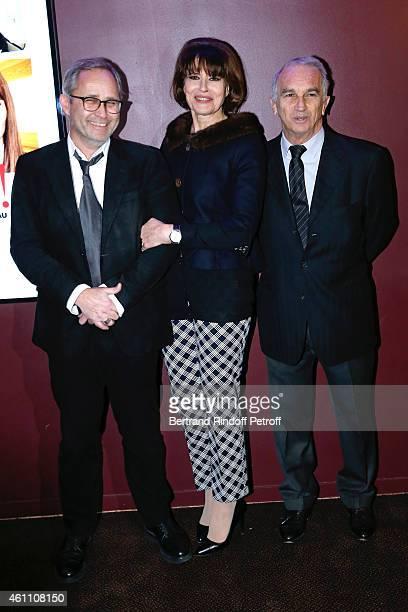Director Jerome Cornuau actress Fanny Ardant and producer Alain Terzian attend the 'Chic ' Paris Premiere at Gaumont Marignan Cinema on January 6...