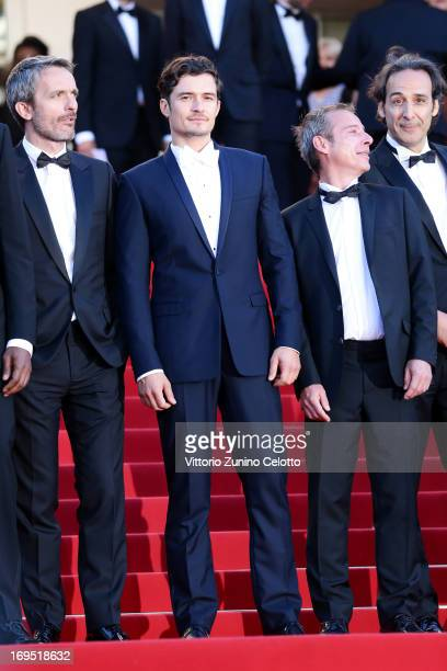 Director Jerome Salle actor Orlando Bloom writer Caryl Ferey and composer Alexandre Desplat attends the 'Zulu' Premiere and Closing Ceremony during...