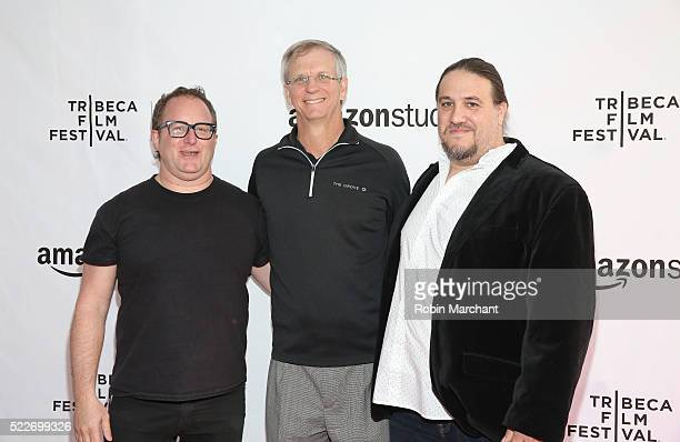 """Director Jerry Kolber, computer scientist Alan Eustace and Director Adam """"Tex"""" Davis attend """"14 Minutes from Earth"""" Premiere - 2016 Tribeca Film..."""