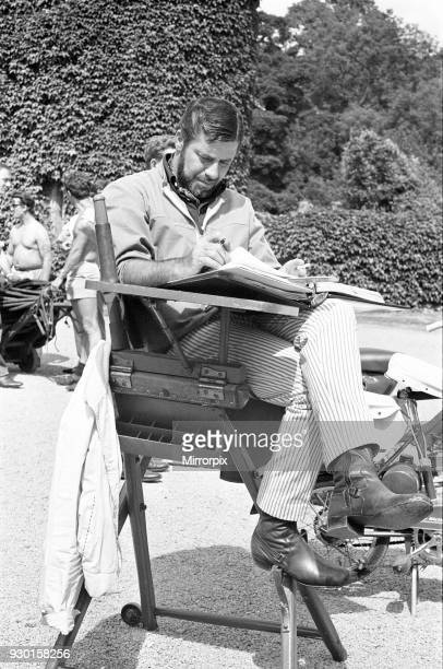 Director Jerry Lewis seen here reading the script whilst on location at Eastnor Castle Ledbury whilst filming 'One More Time' Circa 1st August 1969