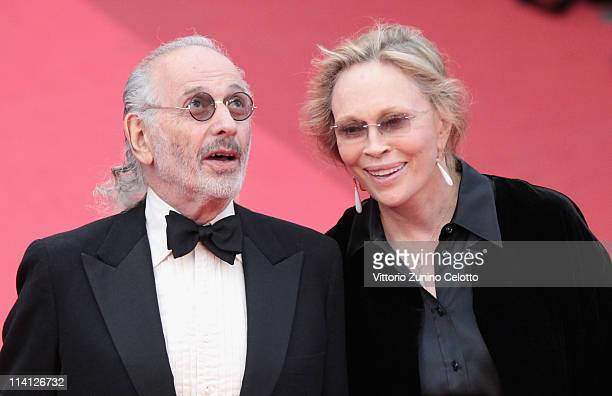 Director Jerry Schatzberg and actress Faye Dunaway arrive at the 'Puzzle Of A Downfall Child' screening during the 64th Annual Cannes Film Festival...