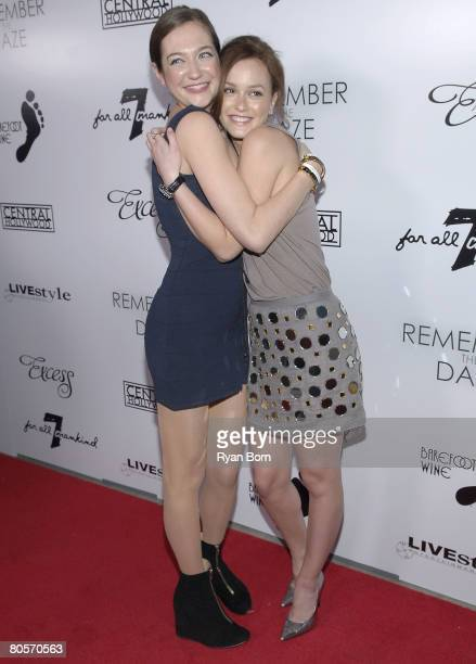 """Director Jess Manafort and Actress Leighton Meester arrive at the Los Angeles premiere of """"Remember The Daze"""" on April 8, 2008 at The Egyptian..."""