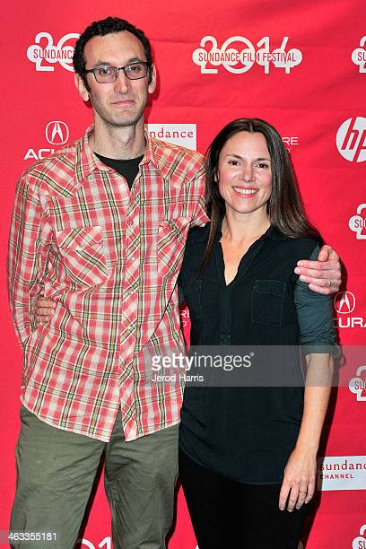 Director Jesse Moss and wife Amanda McBaine attend 'The Overnighters' Premiere 2014 Sundance Film Festival at Temple Theater on January 17 2014 in...