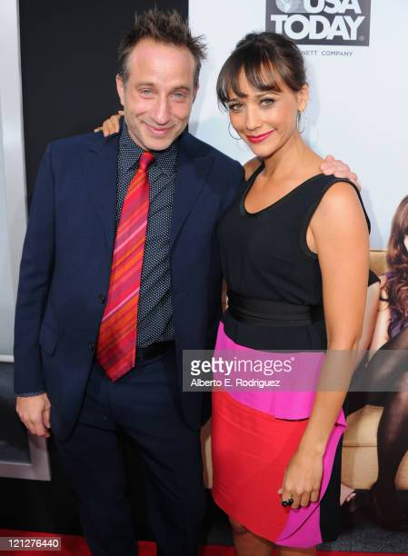Director Jesse Peretz and actress Rashida arrive to the premiere of The Weinstein Company's Our Idiot Brother on August 16 2011 in Los Angeles...