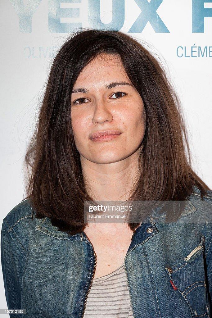 Director Jessica Palud attends 'Les Yeux Fermes' Paris premiere at Cinema Le Saint Andre Des Arts on April 25, 2013 in Paris, France.