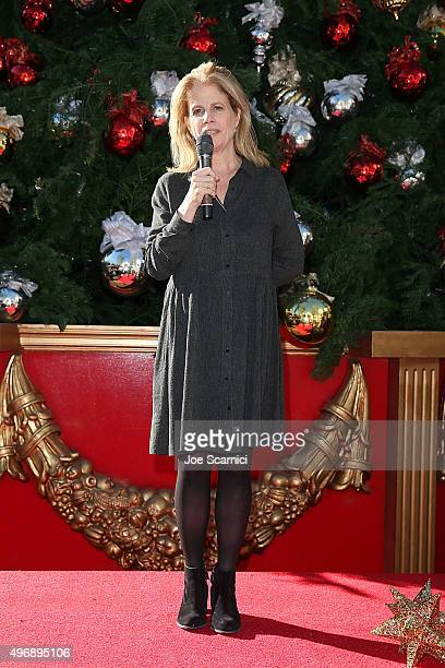 Director Jessie Nelson speaks on stage at the Love The Coopers Holiday Luncheon Benefiting The LA Regional Food Bank at The Grove on November 12 2015...