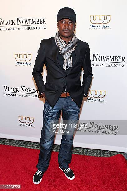 Director Jeta Amata attends the 'Black November' film screening at The Library of Congress on February 29 2012 in Washington DC