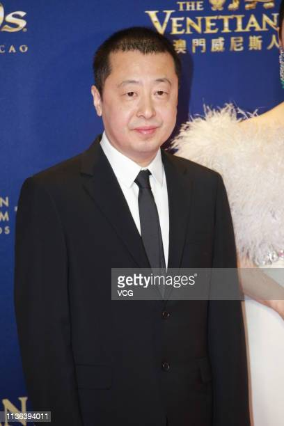 Director Jia Zhangke poses on the red carpet of the 13th Asian Film Awards on March 17 2019 in Hong Kong China