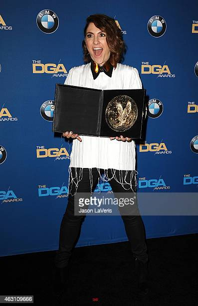 Director Jill Soloway poses in the press room at the 67th annual Directors Guild of America Awards at the Hyatt Regency Century Plaza on February 7...