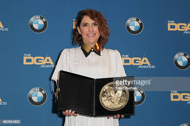 """Director Jill Soloway, winner of the Outstanding Directorial Achievement in Comedy Series for the """"Transparent"""" episode """"Best New Girl,"""" poses in the..."""