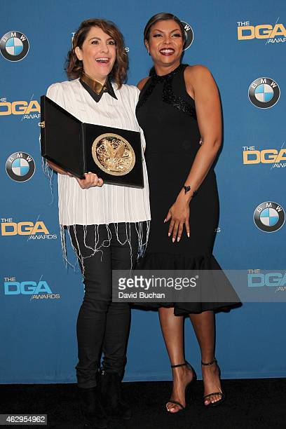 """Director Jill Soloway , winner of the Outstanding Directorial Achievement in Comedy Series for the """"Transparent"""" episode """"Best New Girl,"""" poses with..."""