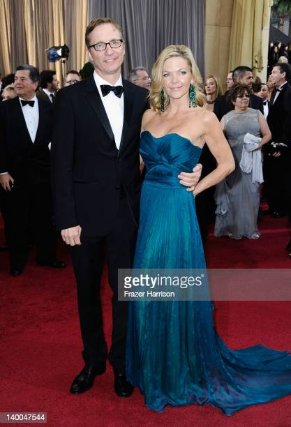 Director Jim Burke and guest arrives at the 84th Annual Academy Awards held at the Hollywood Highland Center on February 26 2012 in Hollywood...