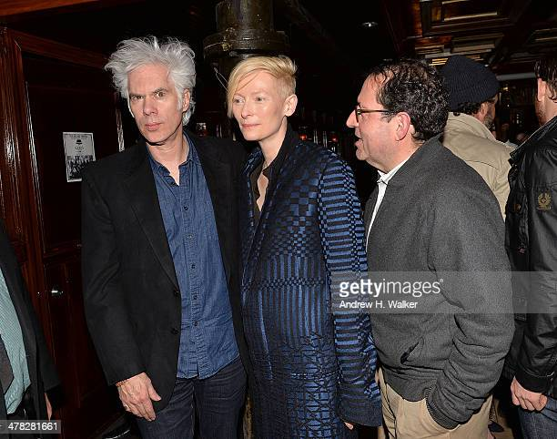 Director Jim Jarmusch actress Tilda Swinton and CoPresident and CoFounder of Sony Pictures Classics Michael Barker attend Sony Pictures Classics'...