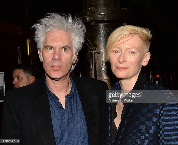 Director Jim Jarmusch actress Tilda Swinton attend Sony Pictures Classics' 'Only Lovers Left Alive' screening hosted by The Cinema Society and...