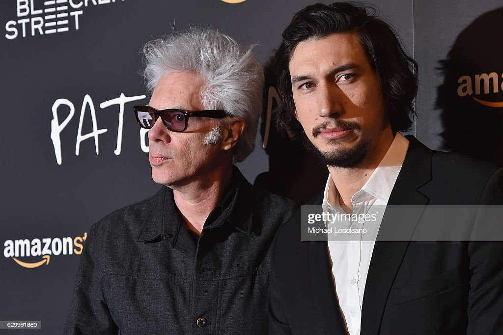 Director Jim Jarmusch (L) and actor Adam Driver attend the New York screening of 'Paterson' at Landmark Sunshine Cinema on December 15, 2016 in New York City.