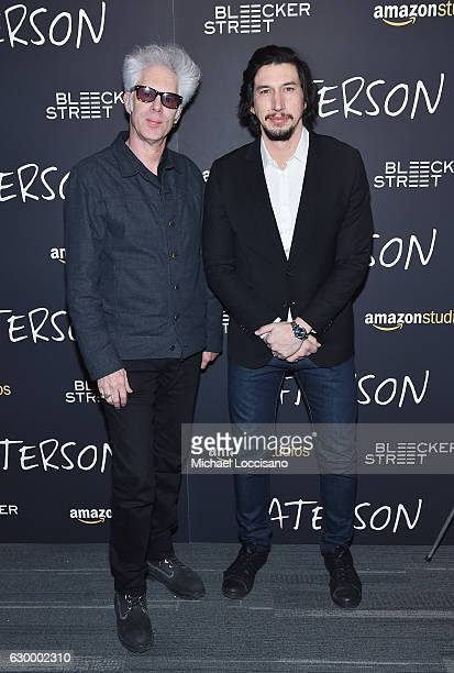 "Director Jim Jarmusch and actor Adam Driver attend the New York screening of ""Paterson"" at Landmark Sunshine Cinema on December 15, 2016 in New York..."