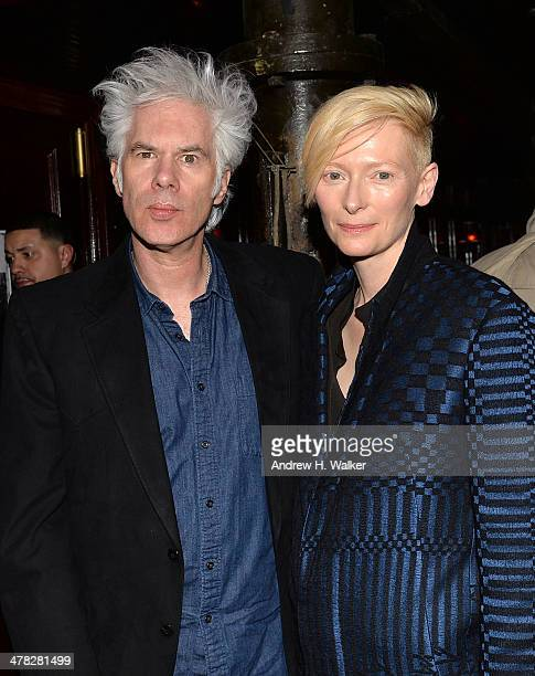 Director Jim Jarmusch and actress Tilda Swinton attend Sony Pictures Classics' 'Only Lovers Left Alive' screening hosted by The Cinema Society and...