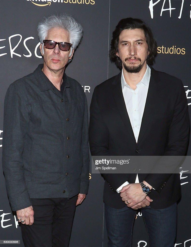 Director Jim Jarmusch and Adam Driver attend the 'Paterson' New York screening at Landmark Sunshine Cinema on December 15, 2016 in New York City.