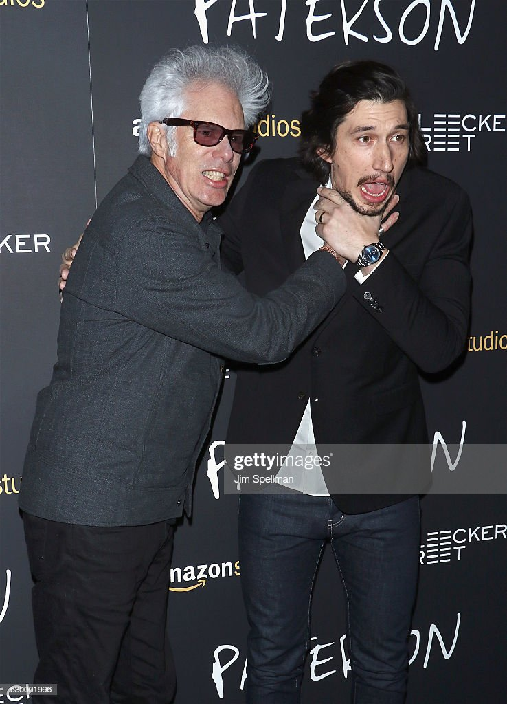 Director Jim Jarmusch and Adam Driver attend the 'Paterson' New York screening at Landmark Sunshine Cinema on December 15, 2016 in New York City.