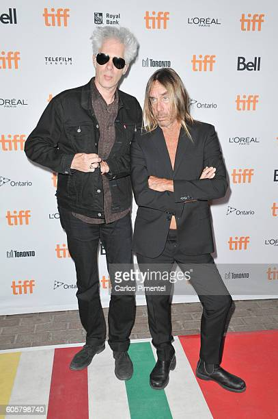 """Director Jim Jarmusch and performer Iggy Pop attend the """"Gimme Danger"""" Premiere during the 2016 Toronto International Film Festival at Ryerson..."""