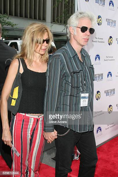 Director Jim Jarmusch and Sara Driver at the premiere of 'No Direction Home Bob Dylan'