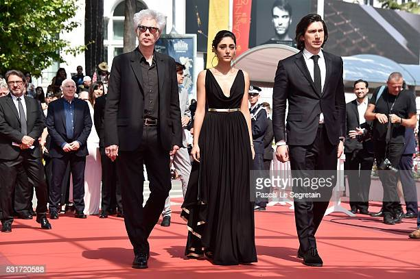 """Director Jim Jarmusch, Golshifteh Farahani and Adam Driver attend the """"Paterson"""" premiere during the 69th annual Cannes Film Festival at the Palais..."""