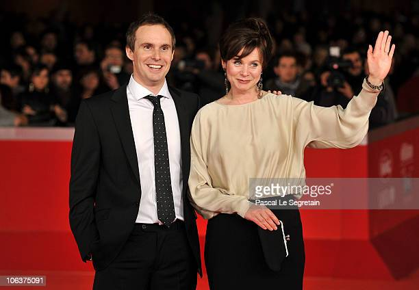 Director Jim Loach and actress Emily Watson attend the Oranges and Sunshine premiere during The 5th International Rome Film Festival at Auditorium...