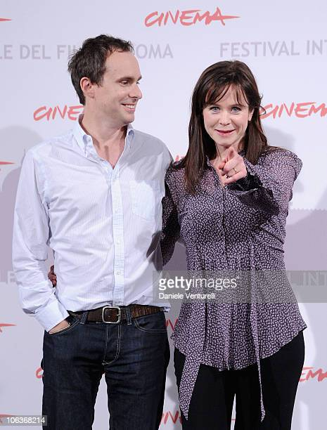 Director Jim Loach and actress Emily Watson attends the Oranges And Sunshine photocall during The 5th International Rome Film Festival at Auditorium...