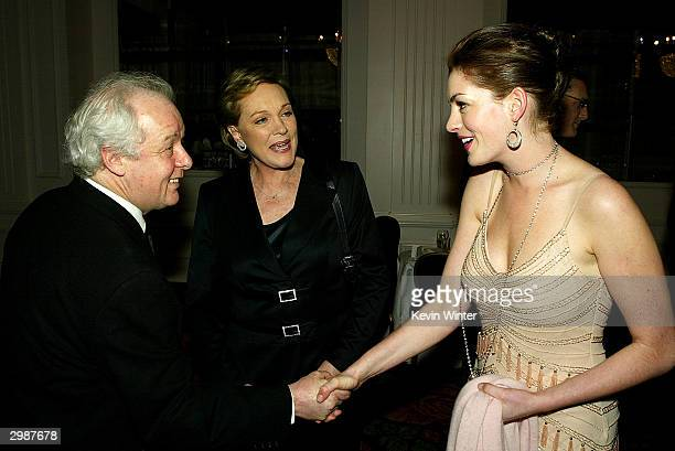 Director Jim Sheridan actors Julie Andrews and Anne Hathaway talk at The American Cinema Editors' 54th Annual ACE Eddie Awards at the Beverly Hilton...