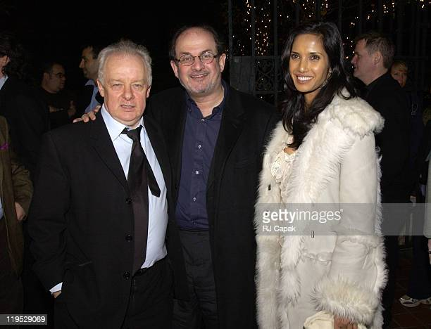 Director Jim Sheridan Salman Rushdie and Padma Lakshmi