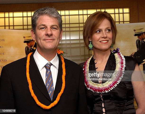 Director Jim Simpson and Sigourney Weaver during New York Premiere of The Guys at Alice Tully Hall Lincoln Center in New York City New York United...