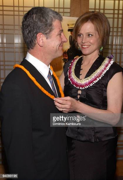 Director Jim Simpson and Sigourney Weaver