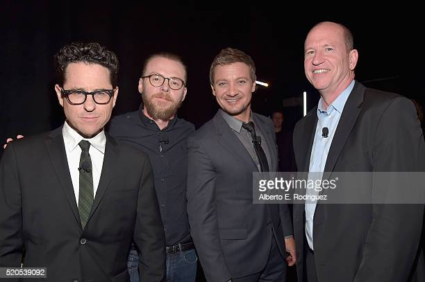 Director J.J. Abrams, actors Simon Pegg, Jeremy Renner and Vice Chairman of Paramount Pictures Rob Moore attend the CinemaCon 2016 Gala Opening Night...