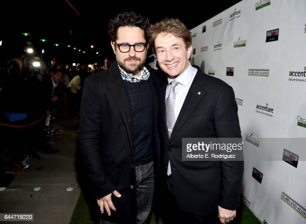 Director JJ Abrams and actor Martin Short attend the 12th Annual USIreland Aliiance's Oscar Wilde Awards event at Bad Robot on February 23 2017 in...