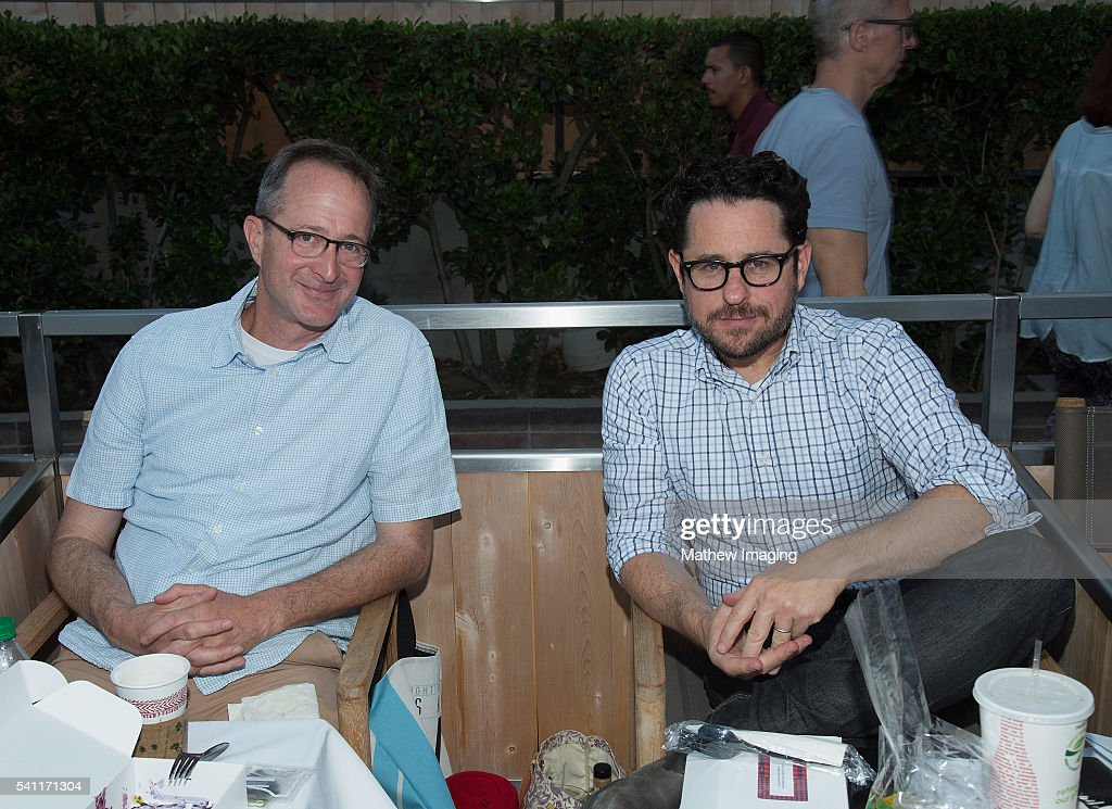 Director JJ Abrams (right) and friend (left) attend the Hollywood Bowl Opening Night at the Hollywood Bowl on June 18, 2016 in Hollywood, California.