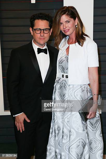 Director JJ Abrams and Katie McGrath arrive at the 2016 Vanity Fair Oscar Party Hosted by Graydon Carter at the Wallis Annenberg Center for the...