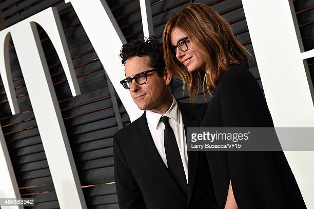 Director JJ Abrams and Katie McGrath attend the 2015 Vanity Fair Oscar Party hosted by Graydon Carter at the Wallis Annenberg Center for the...