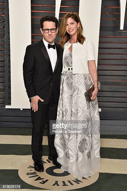 Director JJ Abrams and Katie McGrath attend the 2016 Vanity Fair Oscar Party Hosted By Graydon Carter at the Wallis Annenberg Center for the...