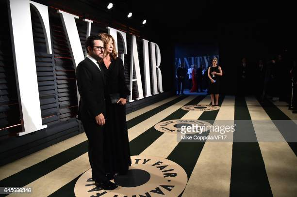 Director JJ Abrams and Katie McGrath attend the 2017 Vanity Fair Oscar Party hosted by Graydon Carter at Wallis Annenberg Center for the Performing...