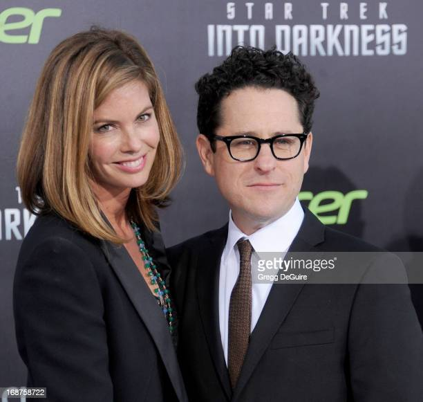 Director JJ Abrams and wife Katie McGrath arrive at the Los Angeles premiere of Star Trek Into Darkness at Dolby Theatre on May 14 2013 in Hollywood...