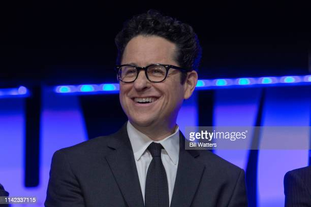 Director JJ Abrams appears at the Star Wars Episode IX panel presentation at the 2019 Star Wars Celebration on April 12 2019 in Chicago Illinois