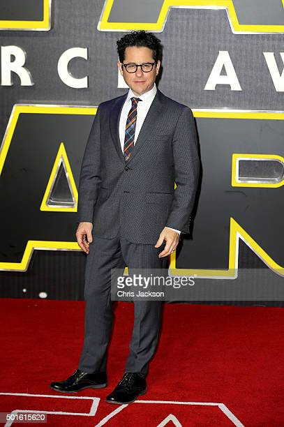 Director JJ Abrams attends the European Premiere of 'Star Wars The Force Awakens' at Leicester Square on December 16 2015 in London England