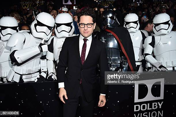 "Director JJ Abrams attends the World Premiere of ""Star Wars The Force Awakens"" at the Dolby El Capitan and TCL Theatres on December 14 2015 in..."
