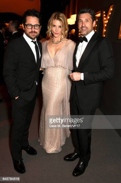 Director JJ Abrams Jillian Dempsey and actor Patrick Dempsey attend the 2017 Vanity Fair Oscar Party hosted by Graydon Carter at Wallis Annenberg...