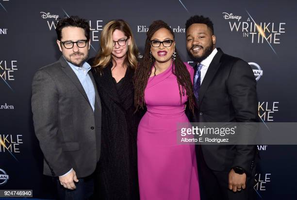 Director JJ Abrams Katie McGrath Directors Ava DuVernay and Ryan Coogler arrive at the world premiere of Disney's 'A Wrinkle in Time' at the El...
