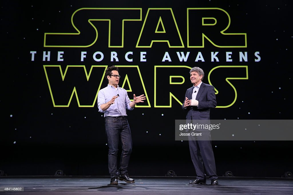 THE FORCE AWAKENS (L) and Chairman of the Walt Disney Studios Alan Horn took part today in 'Worlds, Galaxies, and Universes: Live Action at The Walt Disney Studios' presentation at Disney's D23 EXPO 2015 in Anaheim, Calif.